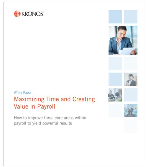 Creating value in payroll